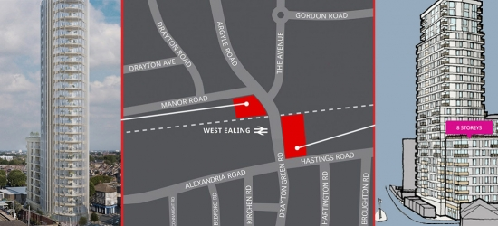 Two skyscrapers are being proposed close to West Ealing station