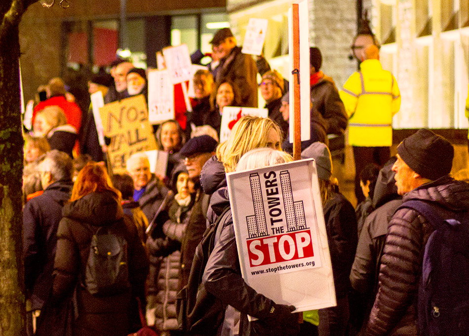 Stop the Towers protest in Ealing