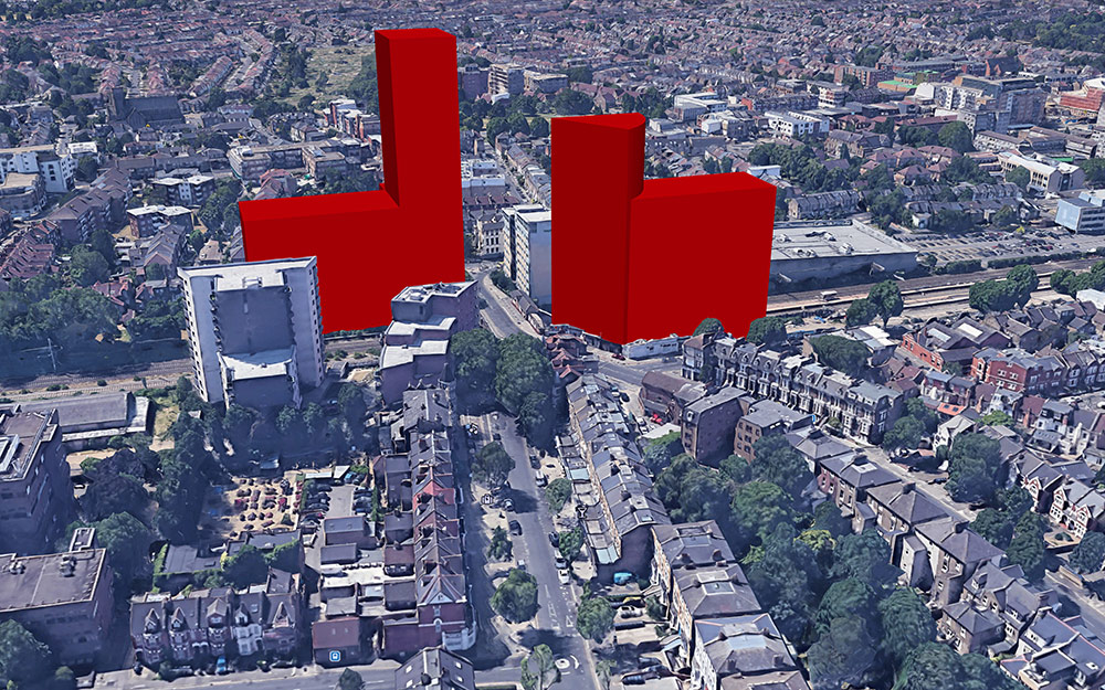impact of the Manor Rd and Hastings Rd towers on the surrounding environment